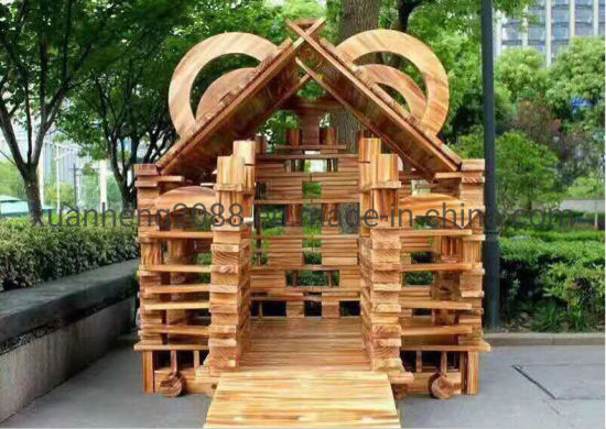Solid Outdoor Wooden Blocks Preschool Toys Educational DIY Outdoor Toys