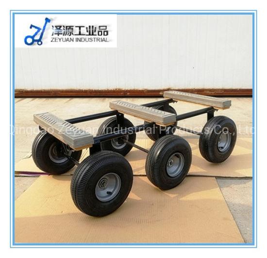Six Wheel Wood Piano Construction Platform Garden Hand Tire Tool