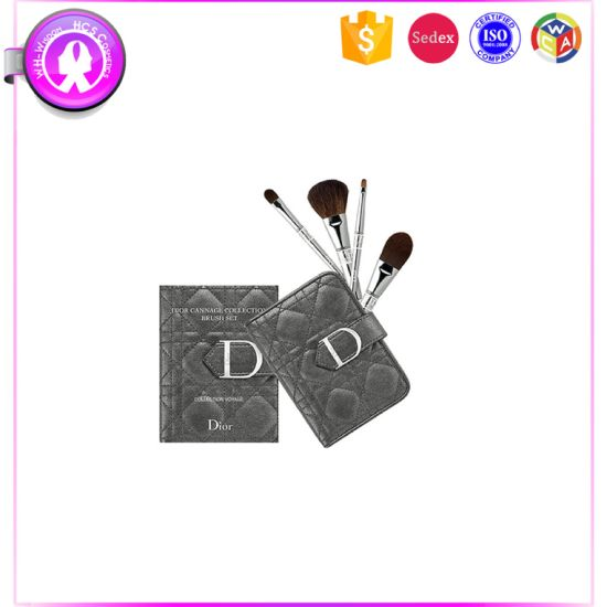 Luxury Mini 4PCS Cosmetic Brush Set with Fashion Custom pictures & photos