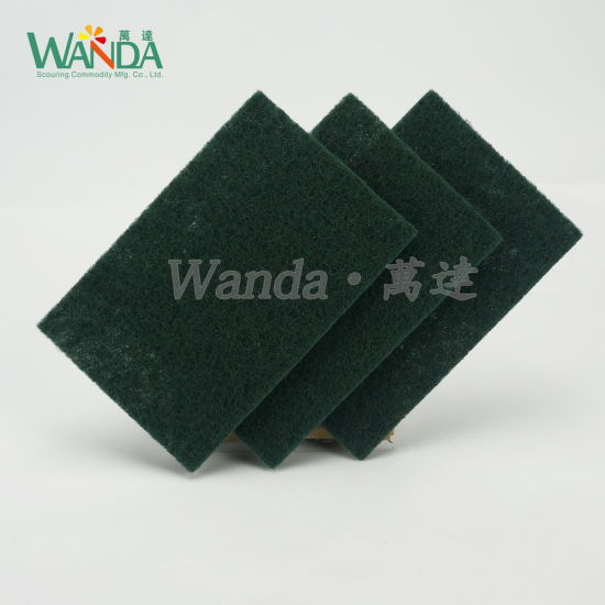 Kitchen Cleaning Pad Non-Abrasive Green Scouring Pad for Washing Dishes pictures & photos