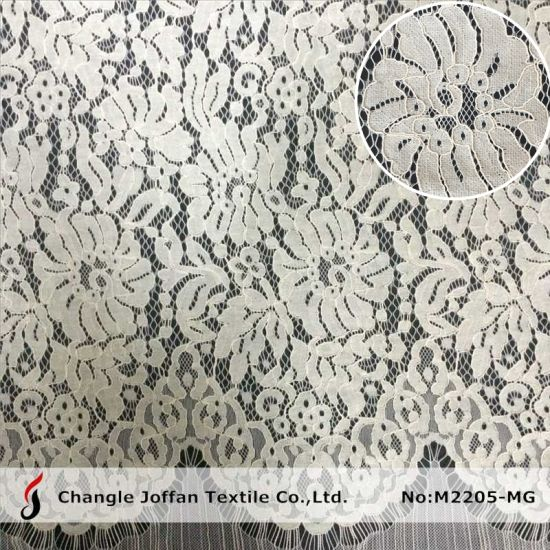Dress Fabric Eyelash Lace Fabric Embroidery Lace Cotton Lace (M2205-MG)