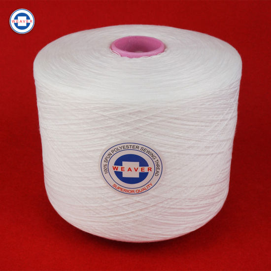100pct Spun Polyester Yarn for Sewing Thread Semi-Dull Ne 42/2 62/3 on Dyeing Tube
