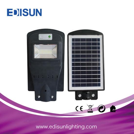 30W 60W 90W Integrated Solar LED Street Light Microwave Sensor