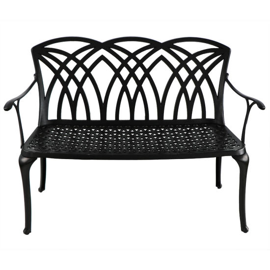 Hot Sale Gtdt022 Garden Park Cast Aluminum Bench with Waterproof Cushion