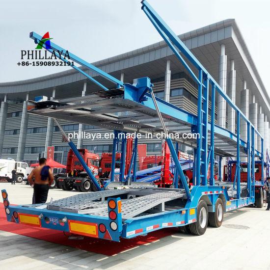 China 5- 10 Transport Carrier Truck Semi Car Hauler Trailer