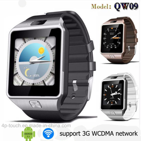 China Waterproof 3G/WiFi Bluetooth Smart Watch with Apps