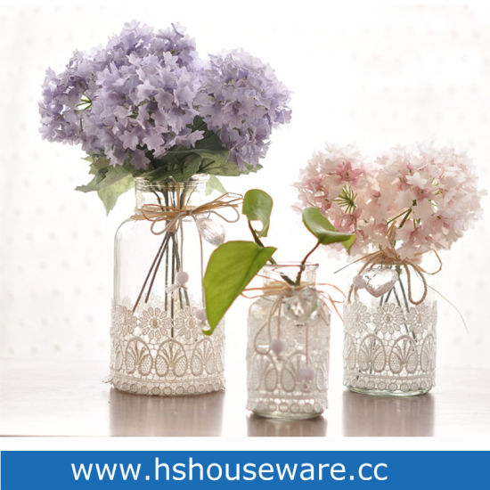 China Lace Floret Bottle Of Flower Arranging Hydroponic Flower Glass