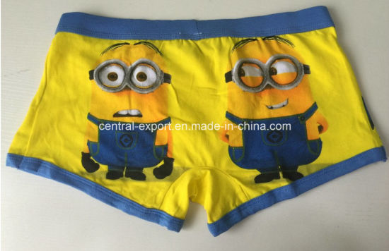 New Style Cartoon Printed Boy Boxer Brief pictures & photos