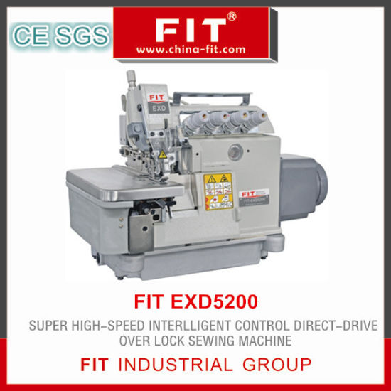 Super High Speed Intelligent Control Direct Drive Overlock Sewing Machine Exd5200