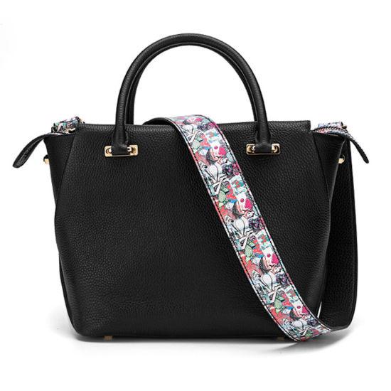 Lady Genuine Leather Handbag Cowhide Shoulder Bag