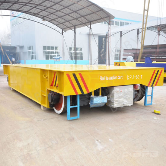 Manfacturer Direct Cable Drum Operated Railway Flat Trolley on Rails pictures & photos