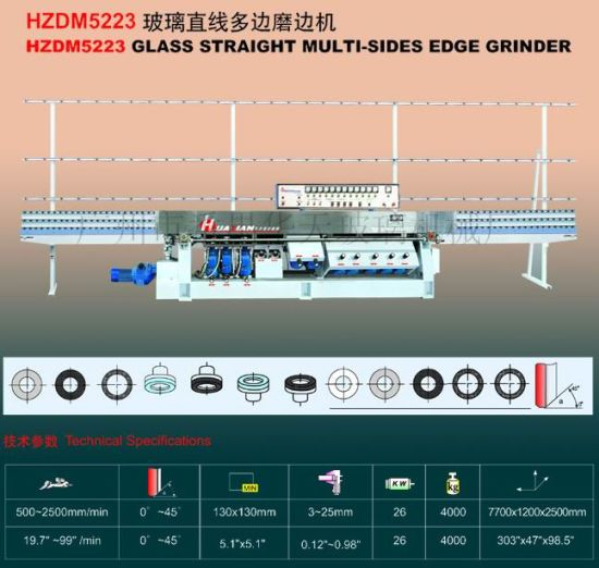 Glass Straight-Line Multi Edge Processing Machine (HZDM522) K78