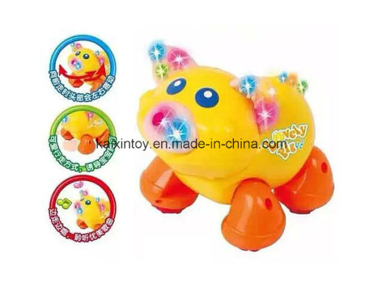 Battery Operated Toys with Flashing Light and Music for Kids pictures & photos