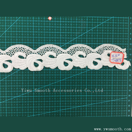 Fashion Embroidery Lace Garment Accessories Water Soluble Cotton Fabric Textile pictures & photos