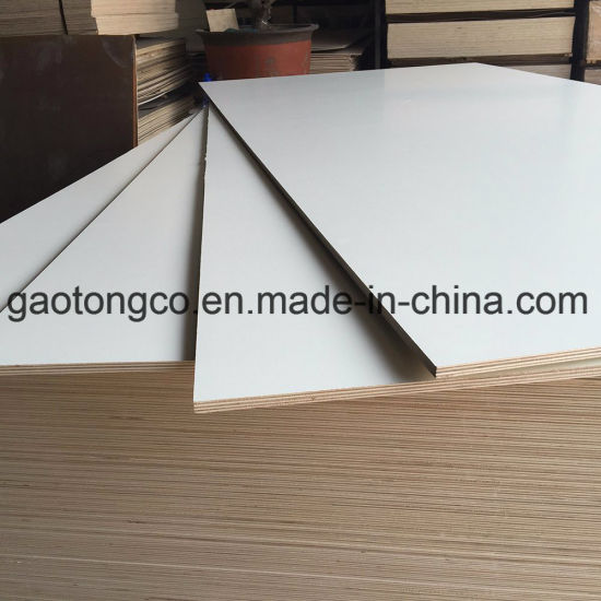 18mm Melamine Paper Faced Plywood Laminated Board for Kitchen Cabinets Furniture