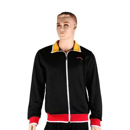 Healong Fashion Design Sportswear High Quality Plain Men′s Jackets pictures & photos