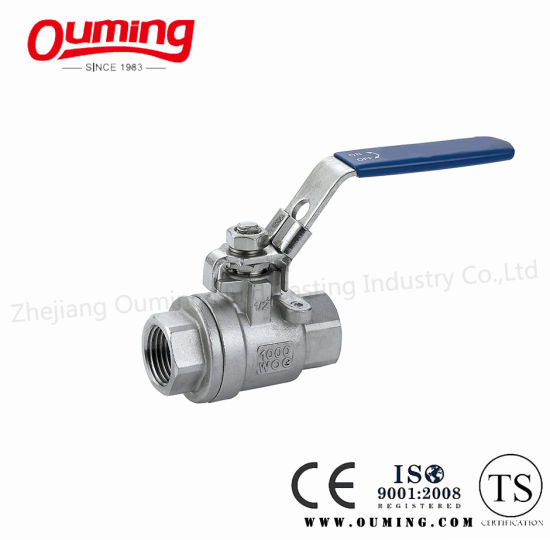 2PC Thread End Ball Valve with Lock (Full Bore)