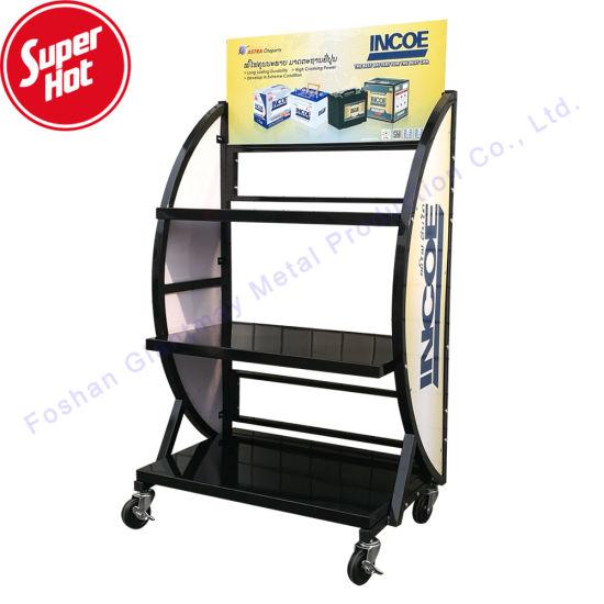 Cheap Metal Floor Stand Bike Storage Car Battery Display
