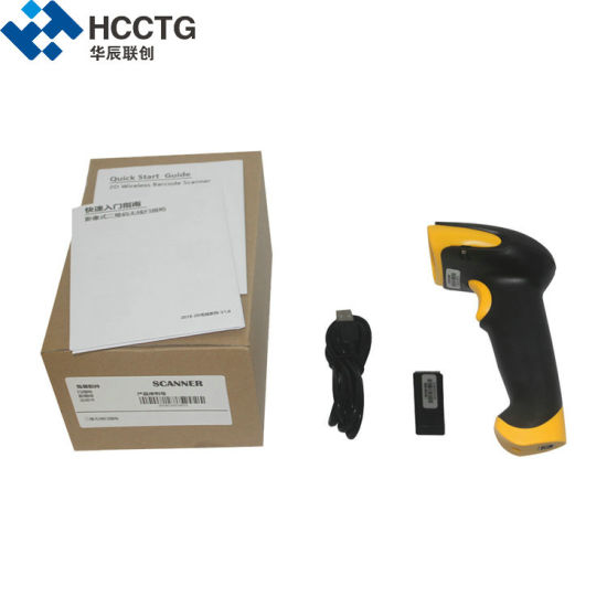 Portable Handheld POS 1D 2D CMOS Wireless Barcode Scanner For In-Counter (HS-6410) pictures & photos