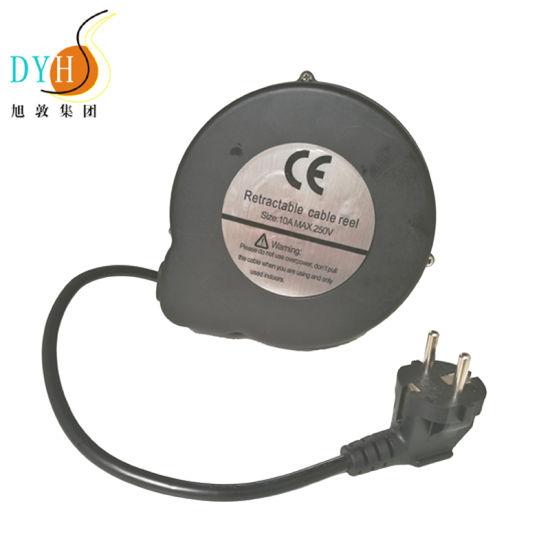 Retractable Power Cord >> China 3m Retractable Eu Power Cord Plastic Cable Reel China