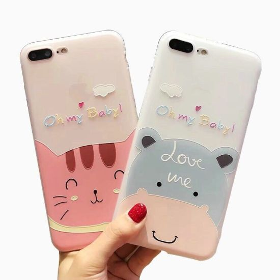 New Arrivals Hot Selling Pink TPU Soft Mobile Case Phone Cover for iPhone 6 6s Plus, for Samsung Galaxy S9 Plus Shock