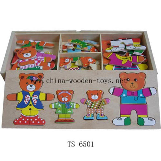 Four Bear Clothing 3 D Wooden Puzzle Toys pictures & photos
