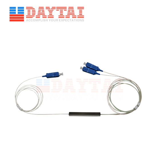 Mini Type 1X2 PLC Splitter with Sc/Upc Optic Connector