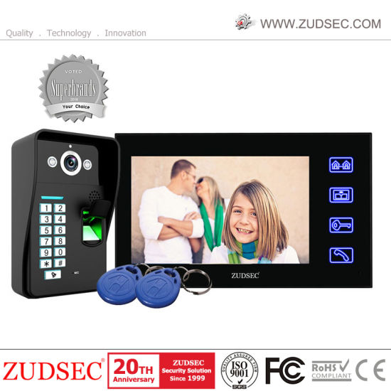 Villa Intercom Video Door Phone with Pin Keypad/ID Card Unlocking pictures & photos