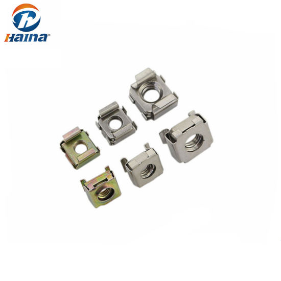 China Zinc Plated Stainless Steel Cage Nut /Square Head Nut - China