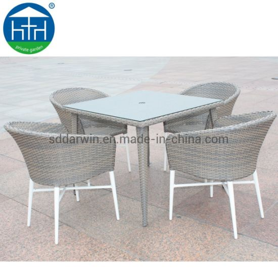 China Modern With Tempered Glass Table Top Rattan Outdoor Wicker Dining Furniture China Rattan Dining Table Outdoor Patio Furniture
