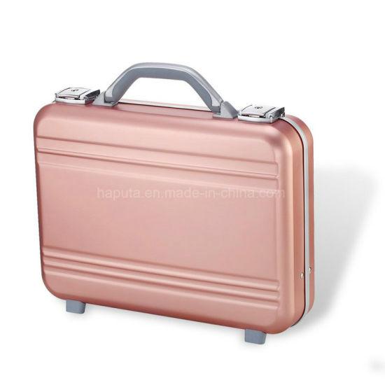 Metal Attache Briefcase Laptop Tool Bag Precision Files Aluminum Briefcase Aluminum Case with Foam