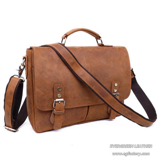 Personalized Handmade Vintage Leather Handbag Briefcase Messenger Bag Men Bags
