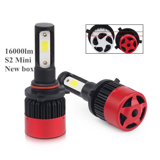 Mini S2 Automobiles Car Head Light Bulbs H7 16000lm H11 Auto Car LED Headlights H4 H7 LED