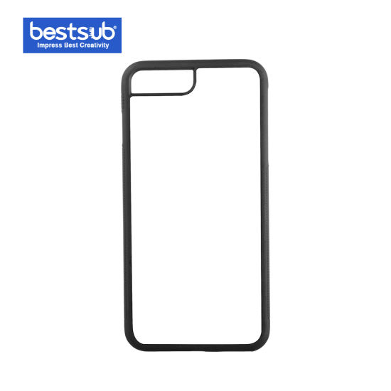 Bestsub New Arrival Sublimation for iPhone 7/8 Plus Black Rubber Cover (IP7PR01K) pictures & photos