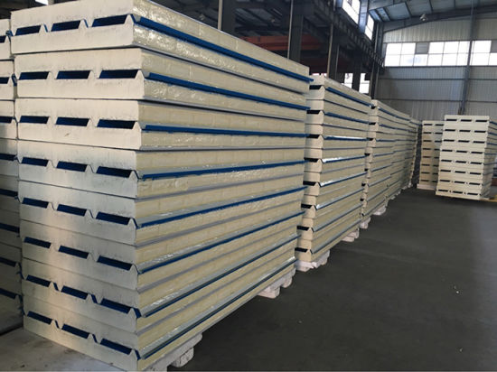 China Warehouse Polyurethane Foam Metal PU Insulation Board