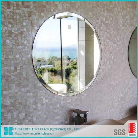 China Wholesale 5mm 6mm Cheap Oval Rectangle Large Frameless Mirrors Bath China Mirror Silver Mirror