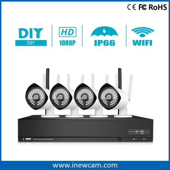 2MP 4CH Wireless IP NVR Kit Security CCTV Camera System pictures & photos