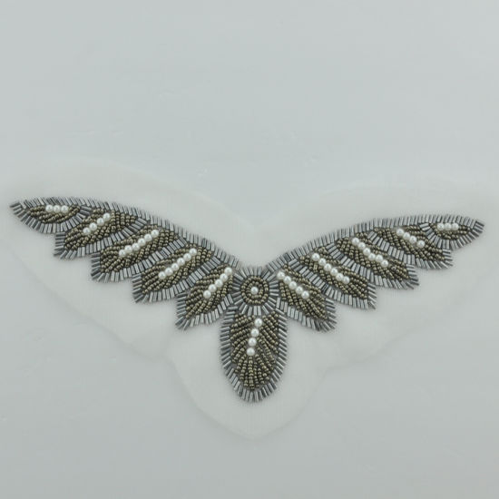 Beading Applique Patch for Neck and Shoulder