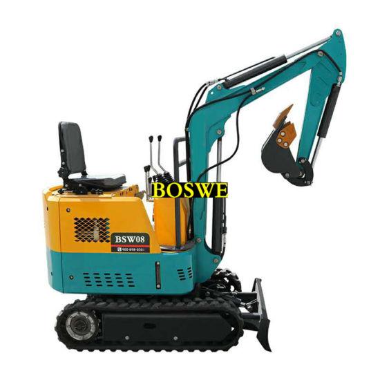 Rubber Track Mini Hydraulic Crawler Excavator 1.8 Ton