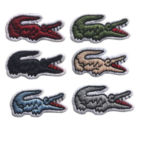 Garment Accessories Crocodile Embroidery Patch and Logo