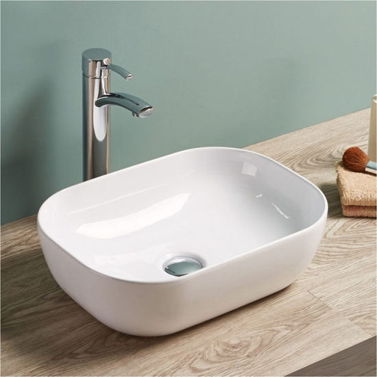 Sanitary Ware Bathroom Ceramic Thin Edge Wash Hand Basin pictures & photos
