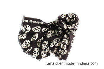 100% Worsted Wool Machine Flat Bed Printed Scarf (AHY1000645) pictures & photos