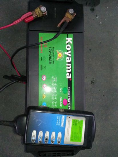 Mf Truck Battery Weight 12V120ah Starter Car Battery, N120ah Sealed Maintenance Free Car Battery pictures & photos