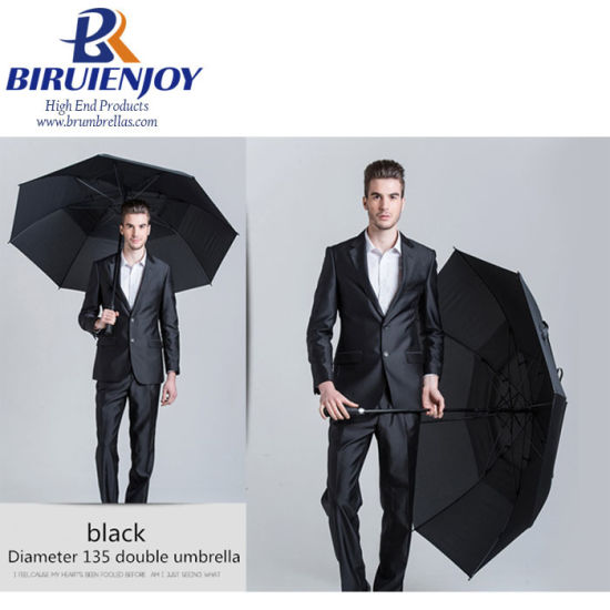 "Oversized Golf Umbrella for Man Double Layer 30"" Auto Black pictures & photos"