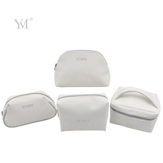 High Quality Matt Smooth PU Leather Makeup Organizer Cosmetic Bag