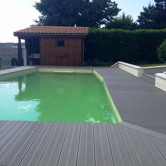 Fashionable Wood Plastic Composite Decking Prices Easy Install WPC Board for Swimming Pool