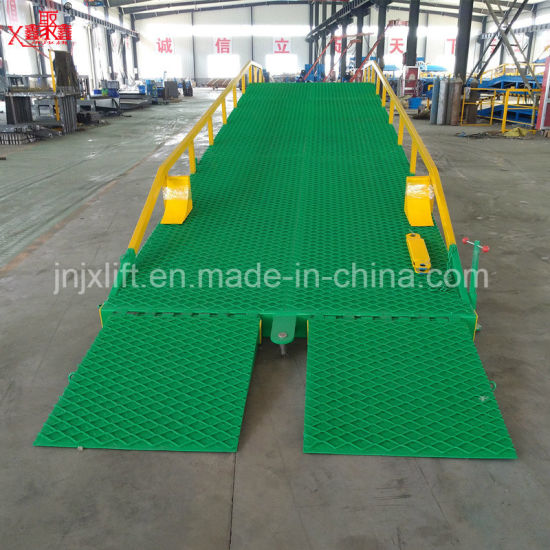 Ce Approved Forklift Yard Ramp with Capacity 6-20t