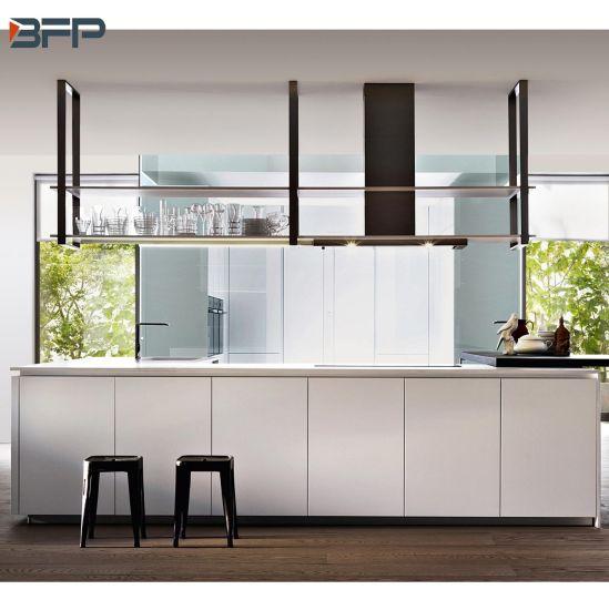 China Matt Finished Pvc Flat Panel Kitchen Cupboard China Furniture Kitchen Cabinets