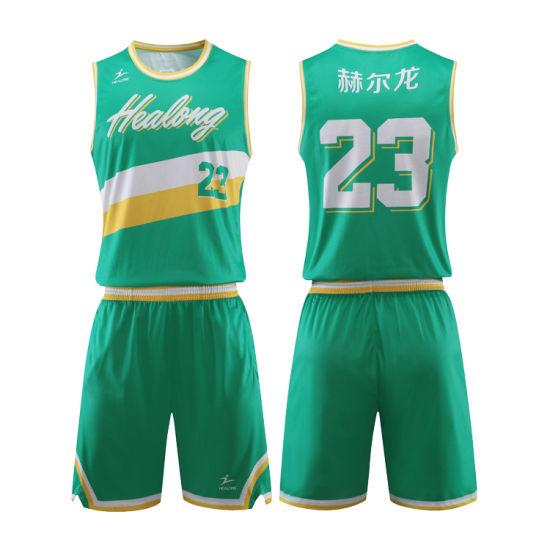 12311993443 Custom Sublimated Basketball Uniform Shorts Simple Design Basketball Jersey