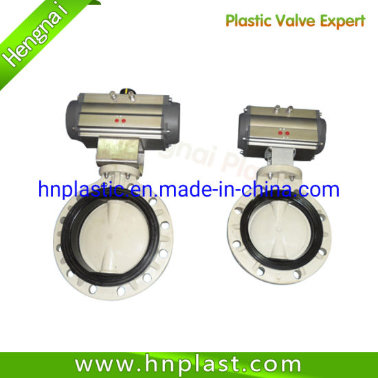 PVC Electrical Actuator ANSI Standard Butterfly Valve